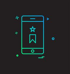 mobile bookmark icon design vector image