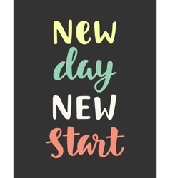 New day new start vector