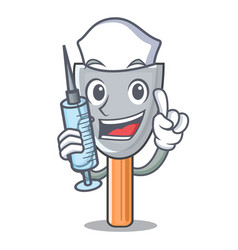 Nurse character putty knife isolated vector