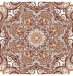 Ornate ethnic henna colors background vector image
