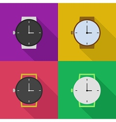Outline icons of watches vector
