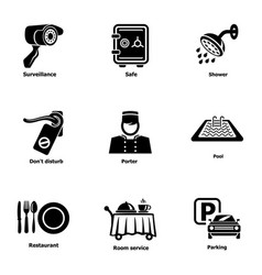 parking spot icons set simple style vector image