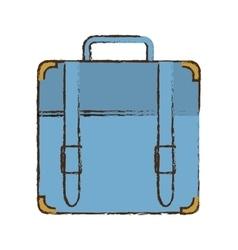 Portfolio suitcase travel business color sketch vector