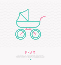 pram for newborn thin line icon vector image