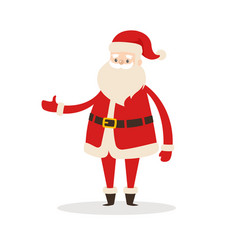 santa claus cartoon xmas character icon vector image