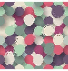 Seamless flat circle background vector