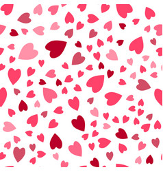 seamless pattern cute background set hearts vector image