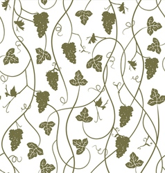Seamless pattern wallpaper background with grapes vector image