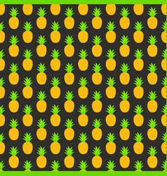 Seamless pattern with pineapples for textile vector