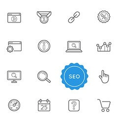 Set of Seo Search Engine Optimization Elements can vector image