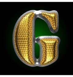 Silver figure with gold g vector