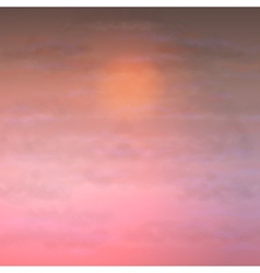 Sky Clouds Sunset Background vector image