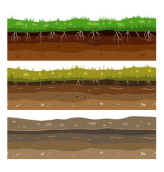soil ground layers seamless campo ground dirt vector image