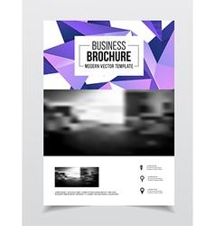 Startup presentation layout or business flyer vector