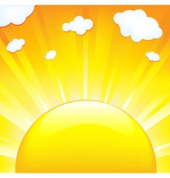 Sun With Beams vector image