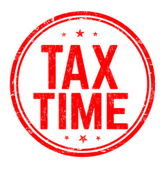 Tax time sign or stamp vector