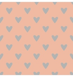 tile pattern with grey hearts on pink background vector image