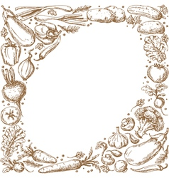 vegetable oval vector image