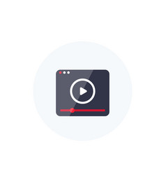 video player icon logo for apps vector image