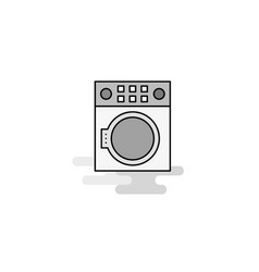 washing machine web icon flat line filled gray vector image
