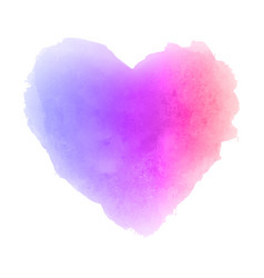 Watercolor gradient textured isolated heart stain vector