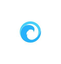 wave letter o logo icon design vector image