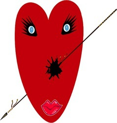 Wounded love heart vector