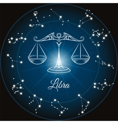 Zodiac sign libra vector image