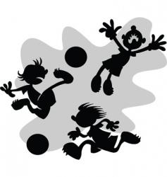 Cartoon football vector