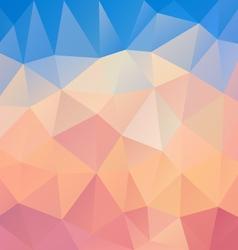 pastel pink blue polygon triangular pattern vector image vector image