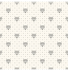seamless retro pattern with diamonds vector image vector image