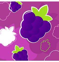 summer blackberry pattern vector image vector image