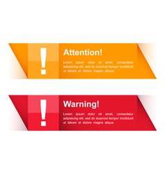 Attention and Warning Banners vector image vector image