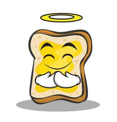 innocent face bread character cartoon vector image