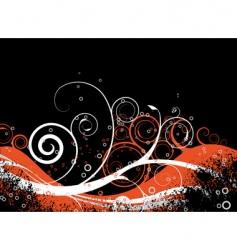 orange crunch vector image vector image