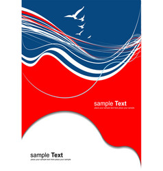 red blue abstract background vector image vector image