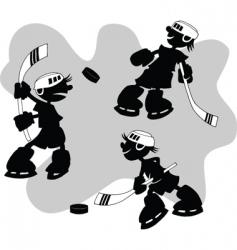 cartoon hockey vector image vector image