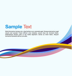 colorful waves on light blue background vector image vector image
