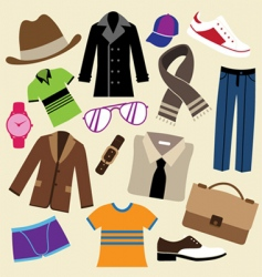 fashion clothes and accessories vector image vector image
