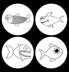 Fish design vector image vector image