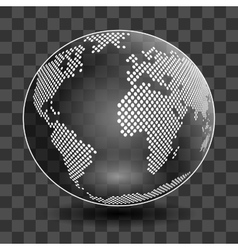 globe isolated on transparent background vector image vector image
