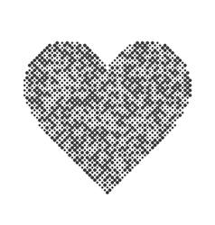 heart halftone design elements Graphic vector image