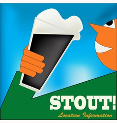 Irish Stout Drinker vector image vector image