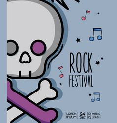 rock music festival event concert vector image