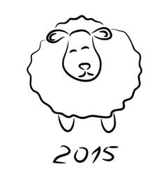 Sheep sketch vector image