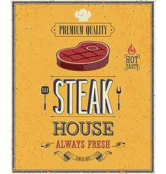 Steak house2 vector image