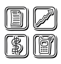 business icon design vector image vector image