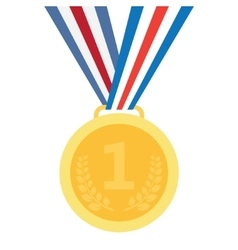 gold medal vector image vector image