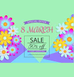 8 march banner vector image