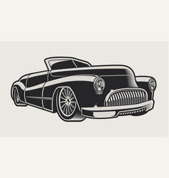 a vintage classic car vector image